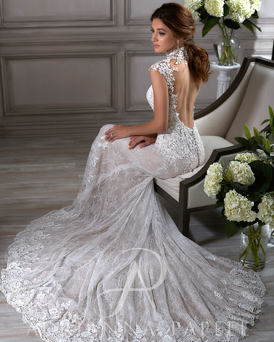vestido de novia con escote