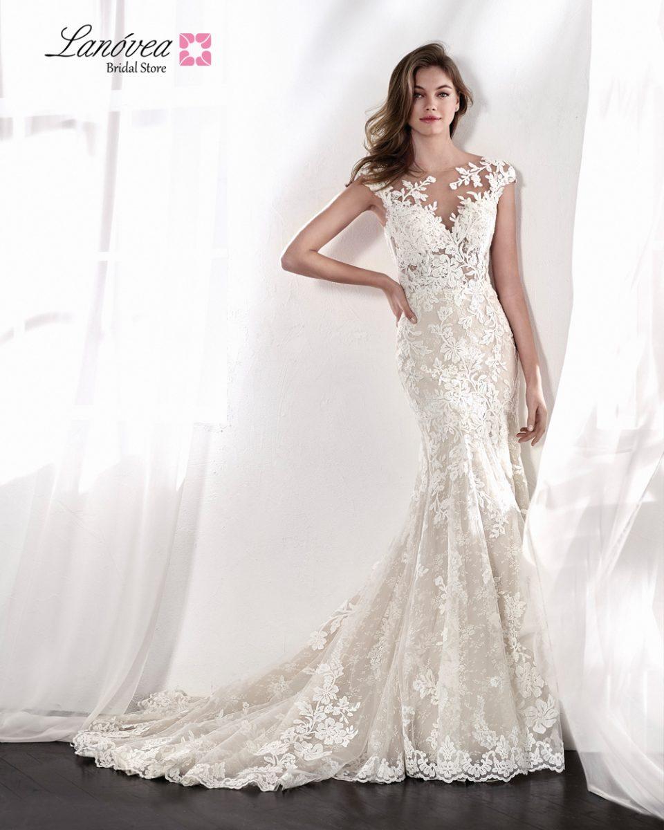 vestido de novias con transparencias